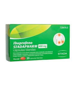 Ibuprofeno Stadapharm 400mg 20 cápsulas blandas