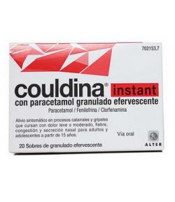 COULDINA INSTANT con paracetamol granulado efervescente 20sob