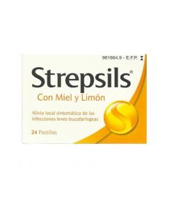 Strepsils sabor Miel y Limón 24past