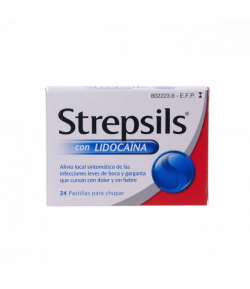 STREPSILS con lidocaína 24past