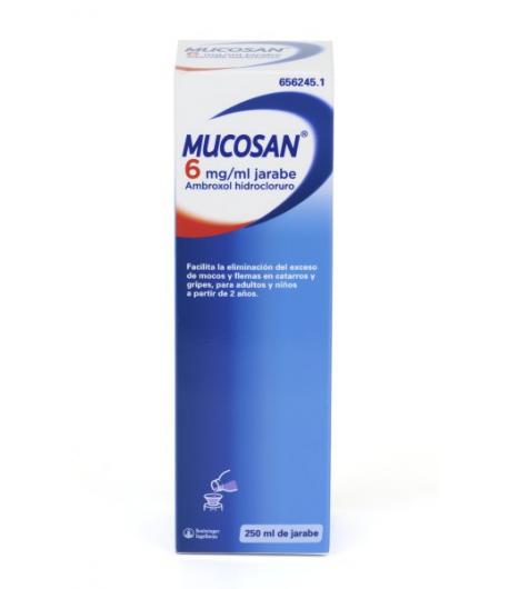 MUCOSAN 6mg/ml Jarabe Solución Oral 250ml Mucolíticos