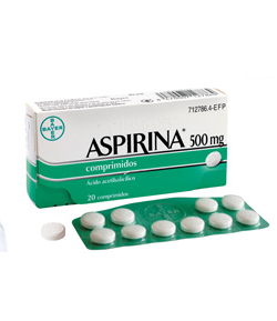 ASPIRINA 500 mg 20comp Antiinflamatorios