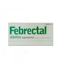 FEBRECTAL ADULTOS 600 mg 6 supositorios