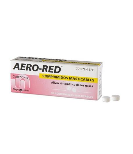 AERO RED 30 comprimidos masticables Gases