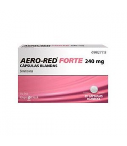 AERO RED Forte 240mg 20 cápsulas blandas Gases