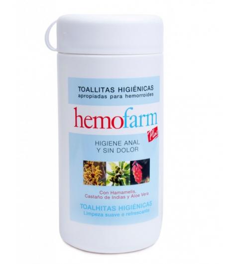 Toallitas Higiénicas HEMOFARM 60ud Hemorroides