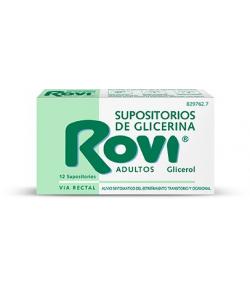 Supositorios de Glicerina ROVI ADULTOS 12ud