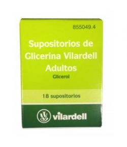 Supositorios de Glicerina VILARDELL 18ud