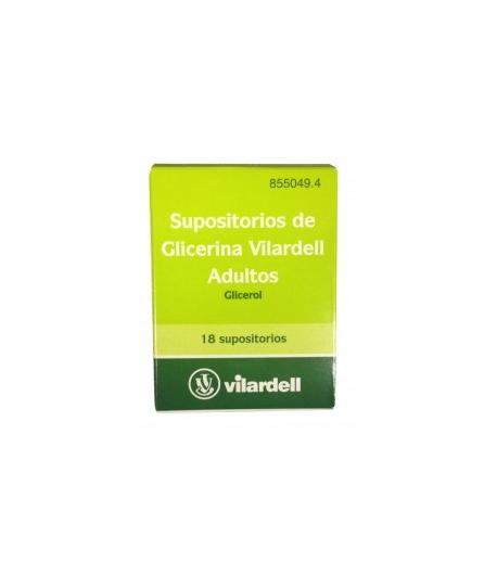 Supositorios de Glicerina VILARDELL 18ud Estreñimiento