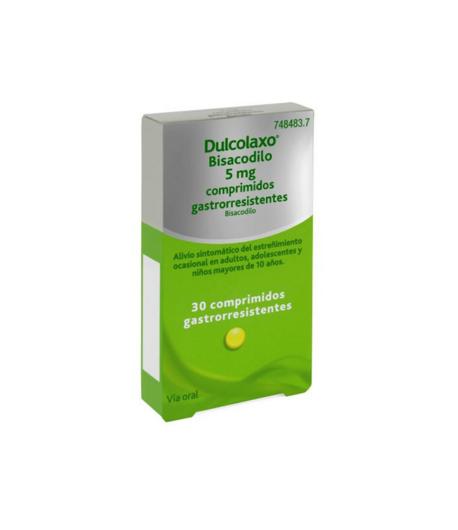 DULCOLAXO Bisacodilo 5 mg 30comp Estreñimiento