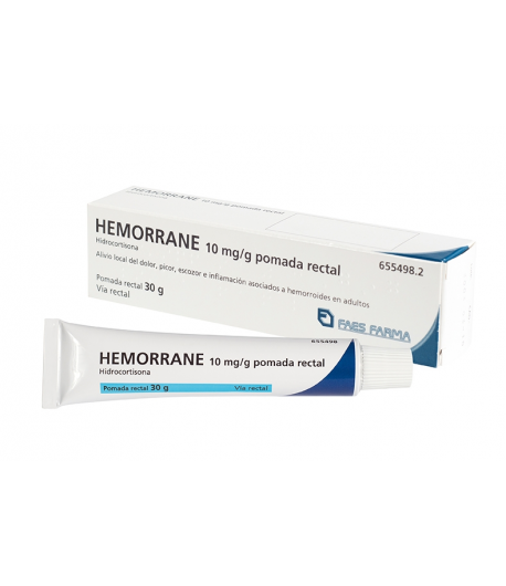 HEMORRANE 10 mg/g pomada rectal 30gr Hemorroides