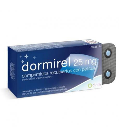 Dormirel 25 mg 16comp Cápsulas/ Comprimidos