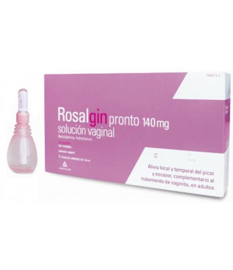 ROSALGIN PRONTO 140mg solución vaginal 5x140ml Vaginal
