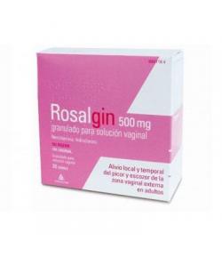 ROSALGIN 500mg granulado para solución vaginal 20sob Vaginal