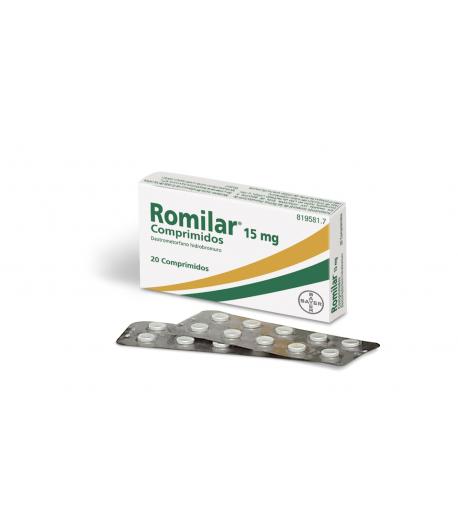 ROMILAR 15 mg 20 Comprimidos Tos seca