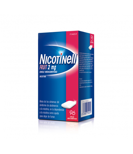 NICOTINELL Fruit 2 mg 96 Chicles Tabaquismo