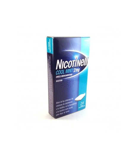 NICOTINELL Cool Mint 2 mg 24 Chicles Tabaquismo
