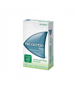 Nicorette 4 mg 30 Chicles Tabaquismo