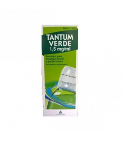 TANTUM VERDE 1,5 mg/ml solución para enjuague bucal y gargarismos