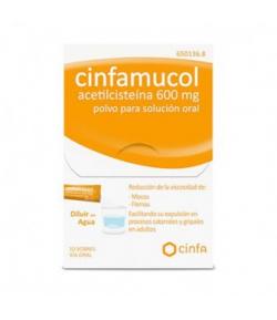 CINFAMUCOL Acetilcisteína 600 mg polvo para solución oral 10sob