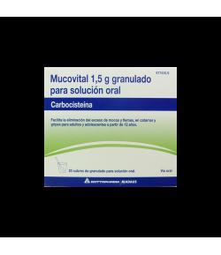 MUCOVITAL 1,5 g Granulado para solución oral 20sob