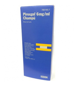 PIROXGEL 6 mg/ml champú 200ml
