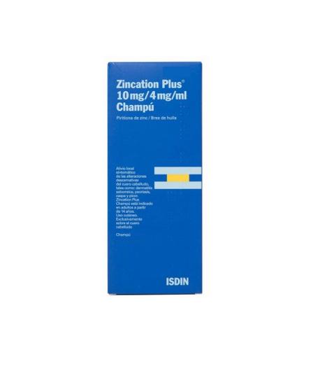 ZINCATION PLUS 10 mg/4 mg/ml Champú 500ml Capilar