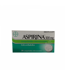ASPIRINA 500 mg 20comp efervescentes