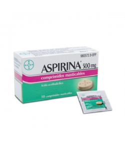 ASPIRINA 500 mg 10comp masticables