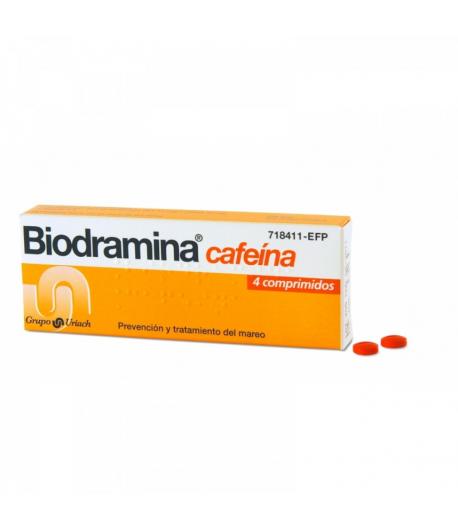 Biodramina Cafeína 4comp Cápsulas/ Comprimidos