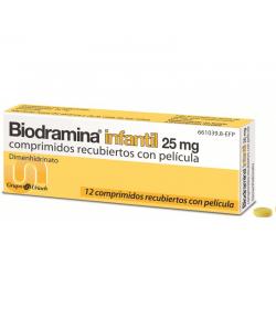 Biodramina Infantil 25 mg 12comp