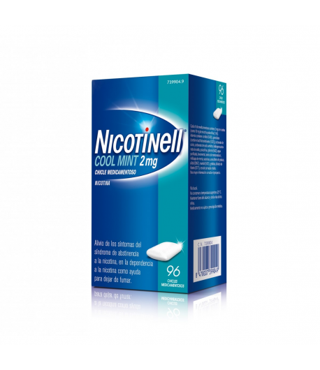 NICOTINELL Cool Mint 2 mg 96 Chicles Tabaquismo
