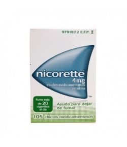 Nicorette 4 mg 105 Chicles Medicamentosos Tabaquismo