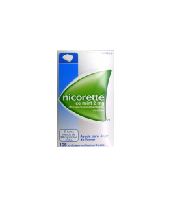 Nicorette Ice Mint 2 mg 105 Chicles Tabaquismo