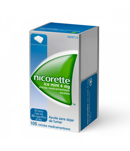 Nicorette Ice Mint 4 mg 105 Chicles Tabaquismo