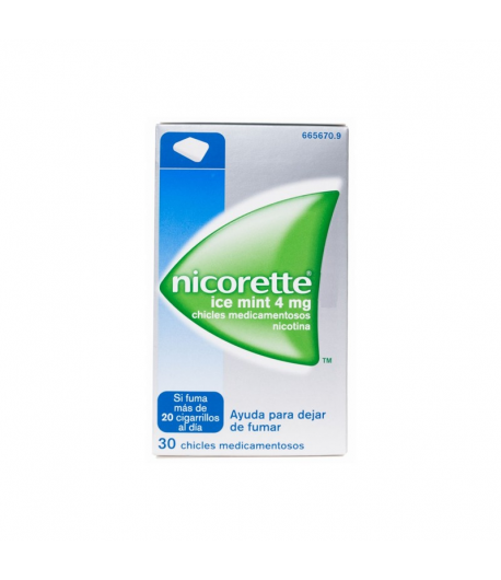 Nicorette Ice Mint 4 mg 30 Chicles Tabaquismo