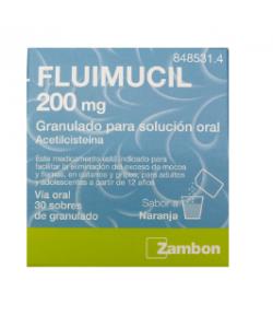 FLUIMUCIL 200 mg 30 Sobres Granulado Solución Oral