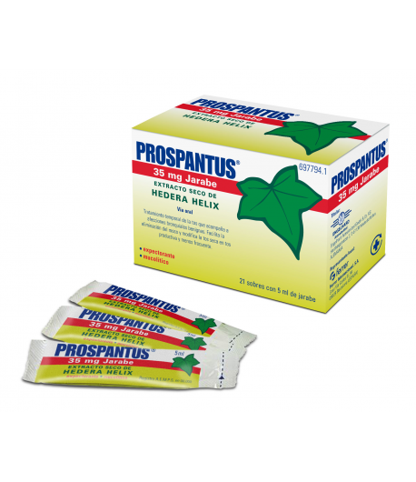 PROSPANTUS 35 mg Jarabe 21sob x 5ml Mucolíticos