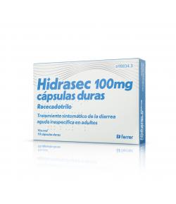 HIDRASEC 100mg 10 cápsulas duras