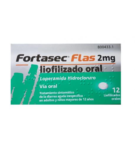 FORTASEC Flas 2 mg 12 liofilizados orales Diarrea