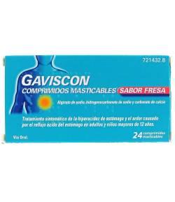 GAVISCON 24comp mast Sabor Fresa Ardor de Estómago