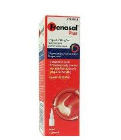 Frenasal Plus 1 mg/ml + 50 mg/ml solución para pulverización nasal 10ml