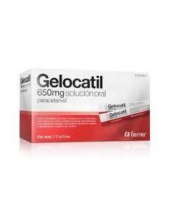 GELOCATIL 650 mg solución oral 12sob