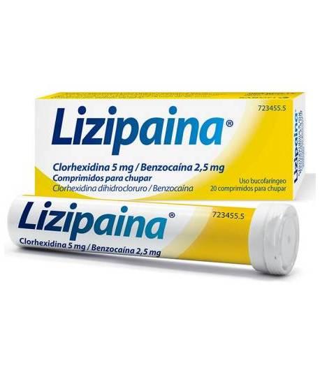 LIZIPAINA 20comp para chupar Dolor de garganta