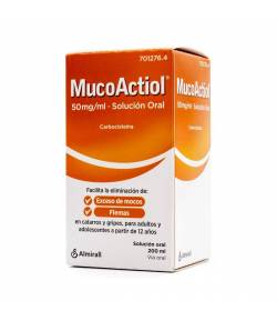 Mucoactiol 50mg/ml Solución Oral, 1 Frasco de 200ml
