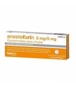 Anesyefarin 5mg/5ml Comprimidos para Chupar, 20 uds Dolor de garganta