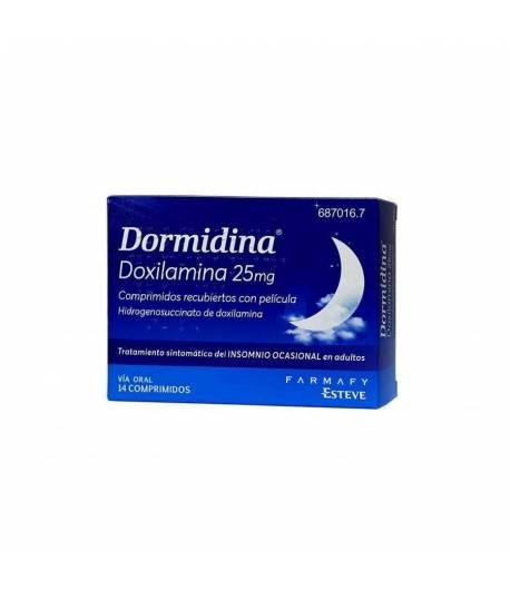 Dormidina Doxilamina 25 mg 14comp Cápsulas/ Comprimidos